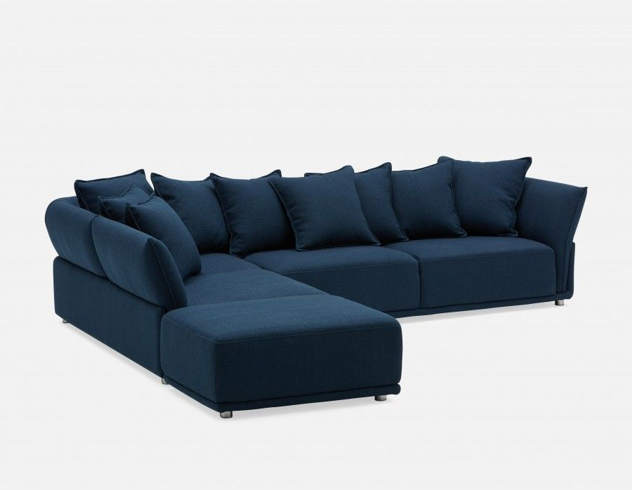 Colby Left Facing Sectional Sofa Blue Sectional Sofa Sale