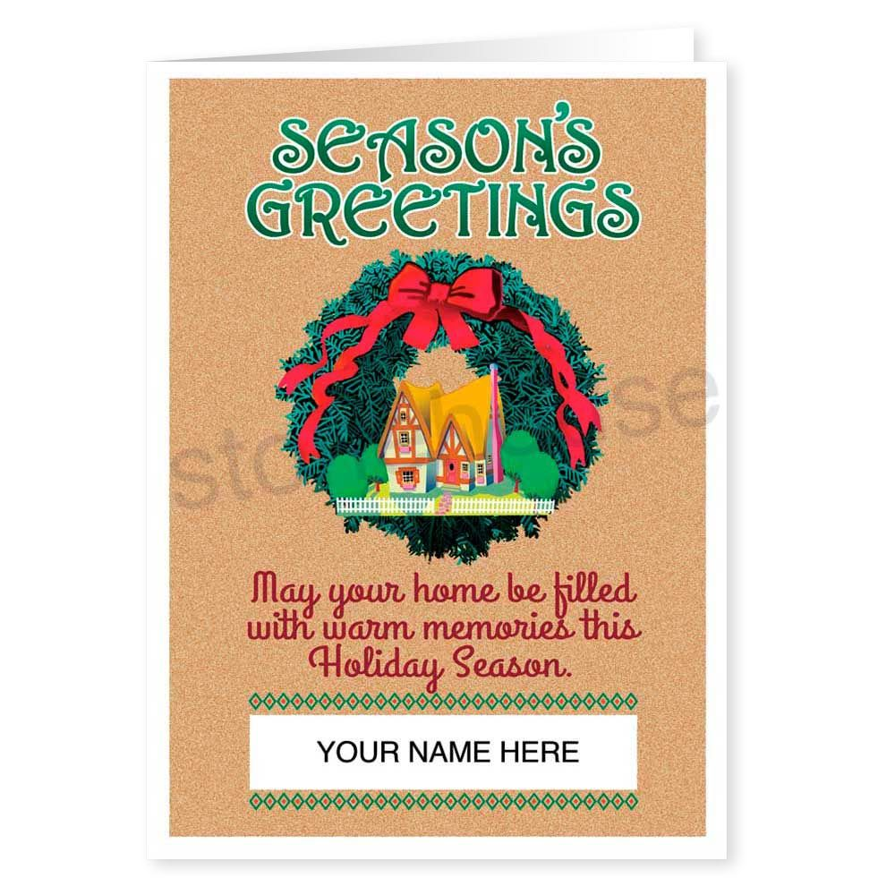Real Estate Holiday Card Real Estate Holidays And Wreaths