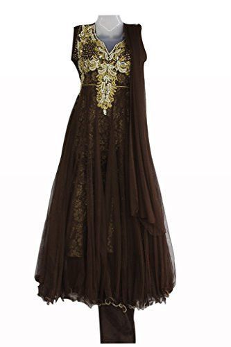 045a7f88a96f Coffee coloured Girls Party wear Punjabi Suit