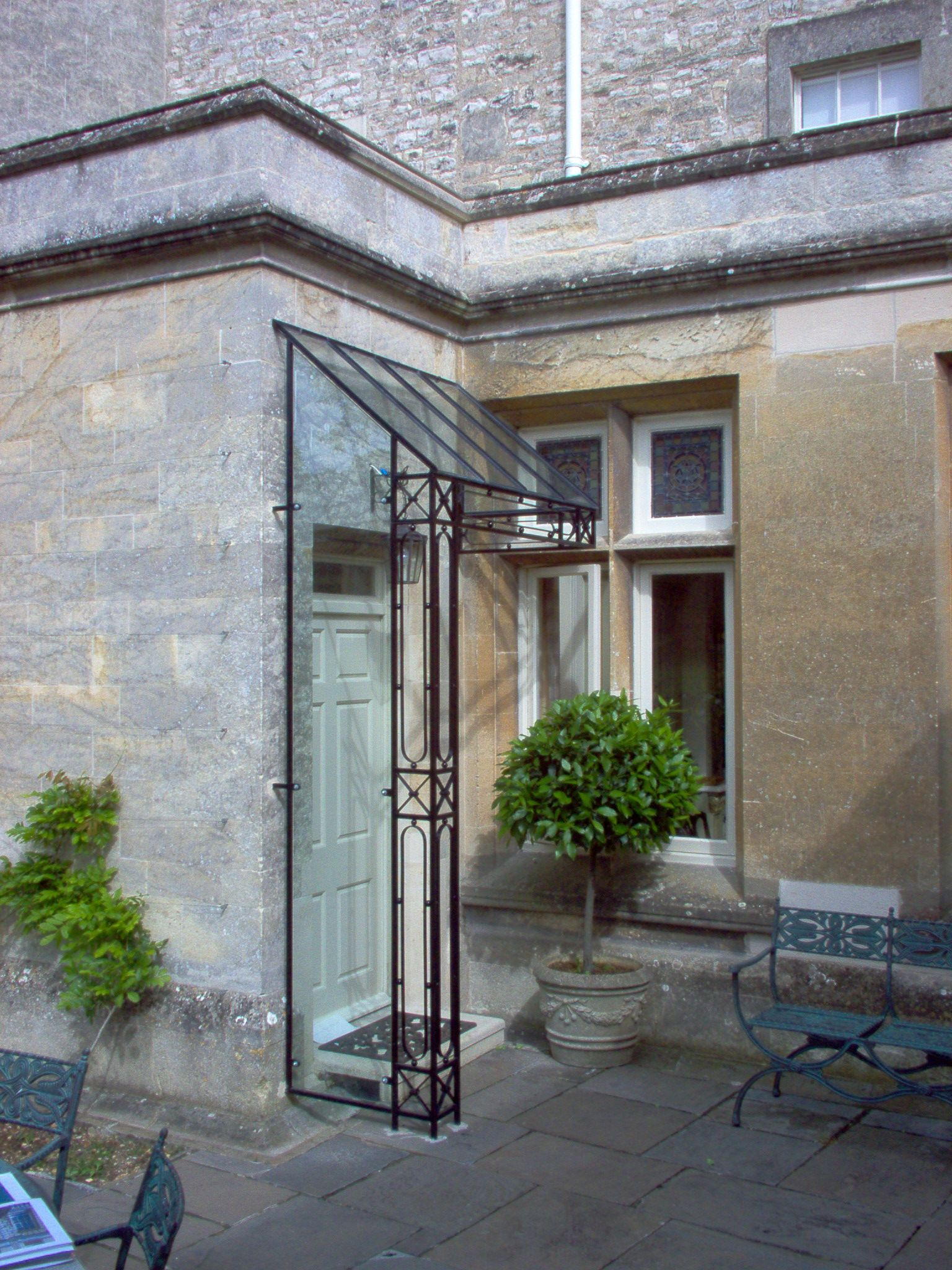glass wrought iron door awning - Google Search & glass wrought iron door awning - Google Search | Canopies ...