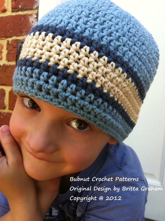 Crochet Hat PATTERN Girls and Boys Quick and por bubnutPatterns ...