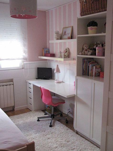 Ikea hacker escritorios habitaciones peque as ni a - Como amueblar un dormitorio juvenil pequeno ...