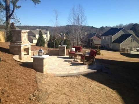 Patio and fireplace!