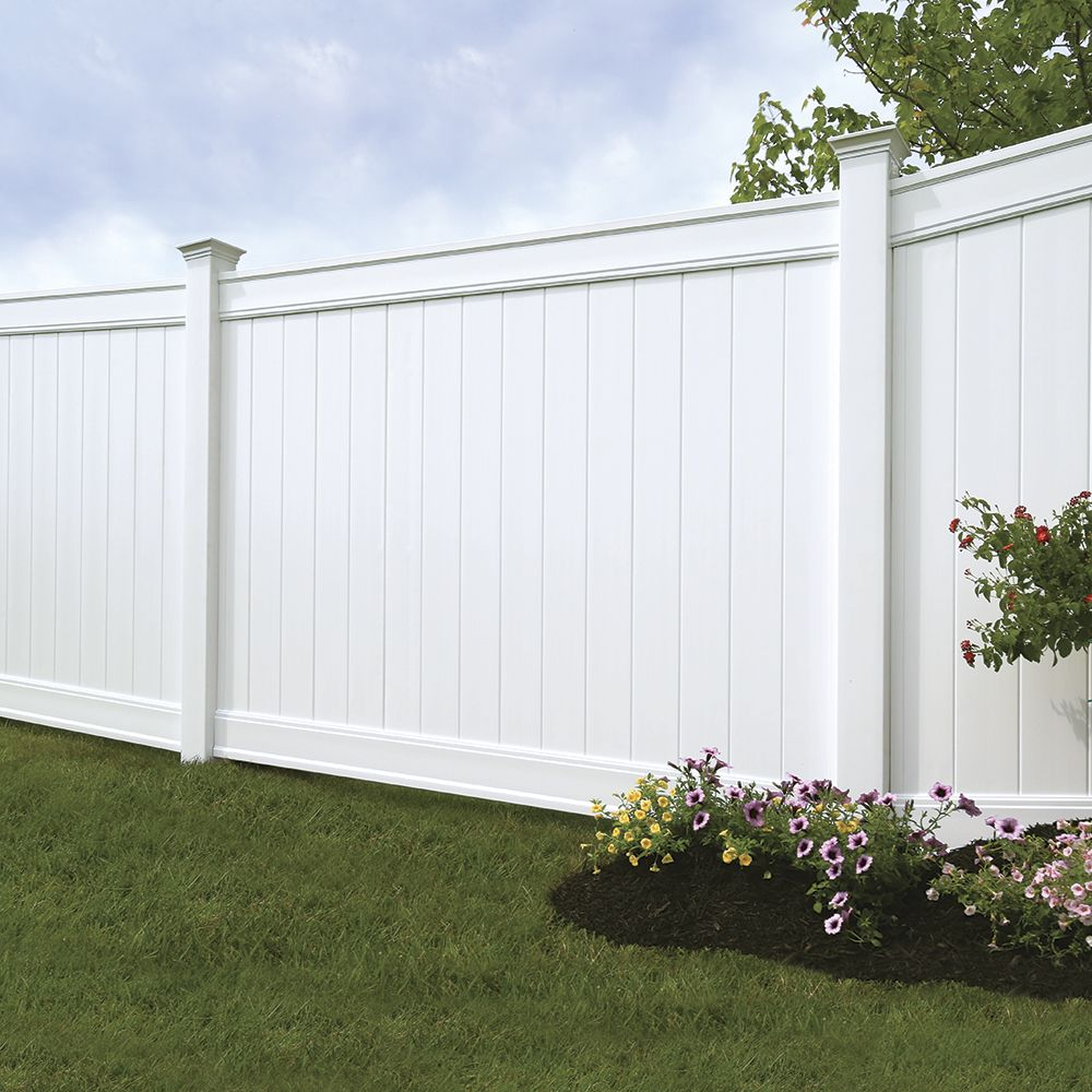 Emblem 6x8 Vinyl Privacy Fence Kit Vinyl Fence Freedom Outdoor Living For Lowes Vinyl Privacy Fence Vinyl Fence Panels Garden Fence