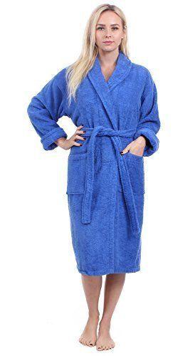 bc7c270a5b Turkuoise Women s Terry Shawl Robe 100% Cotton Bathrobe Made in Turkey  Sleepwear  Turkuoise