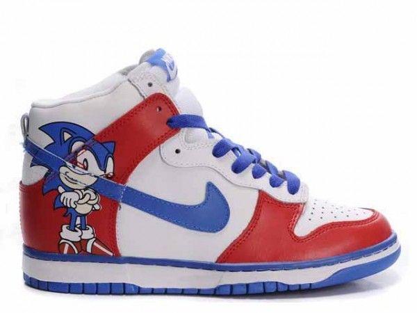reputable site e0062 b0790 Aangepaste Nike Dunk Hoge Sneakers Sonic Hedgehog Schoenen Korting verkoop