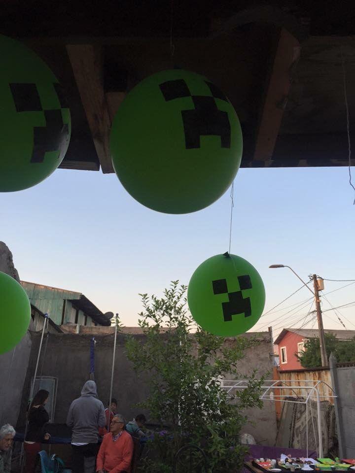 Globos Cumpleaños minecraft