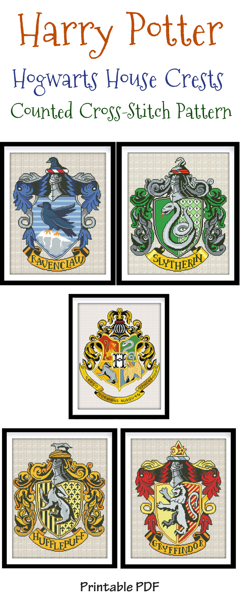 Show Your Hogwarts School Spirit With This Counted Cross Stitch School Crest Patt Harry Potter Cross Stitch Pattern Cross Stitch Patterns Cross Stitch Samplers