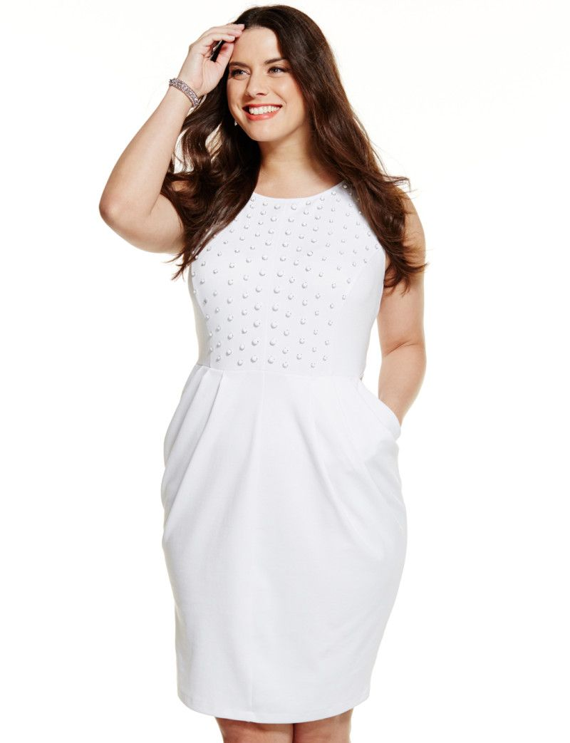 All White Party Dress Plus Size