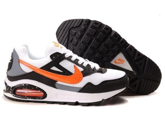 Nike Air Max Skyline Mens White Orange Black Running Shoes