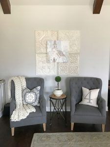 Farmhouse Living Room Chairs Lightings Chair Ideas Wall Color Is Sherwin Williams Agreeable Gray Styling