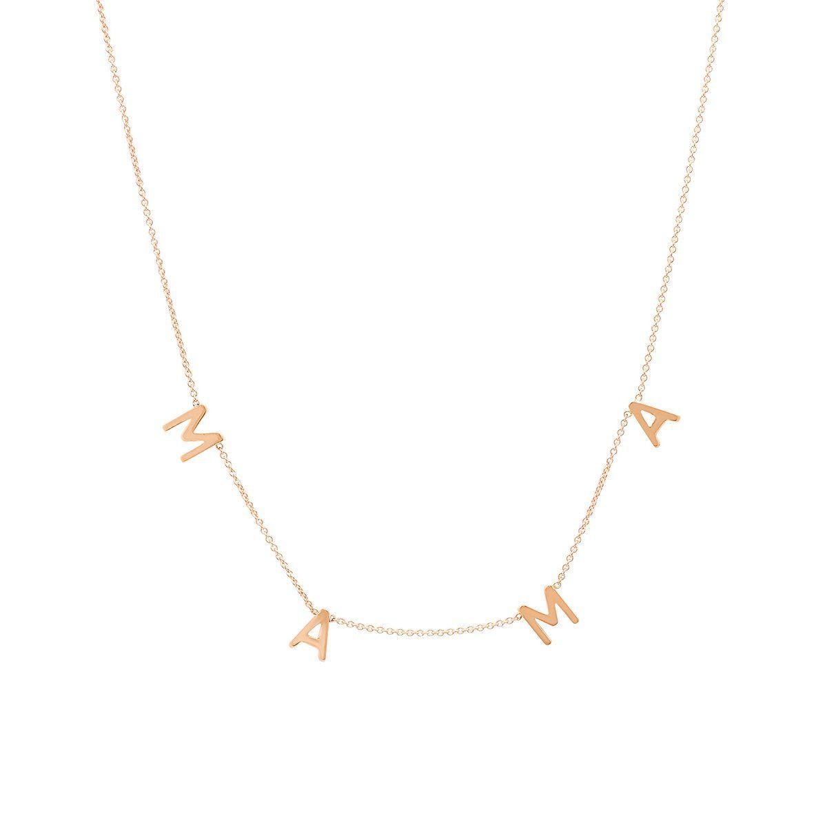 Mama Necklace In 2021 Mama Necklace Necklace Jewelry Inspiration