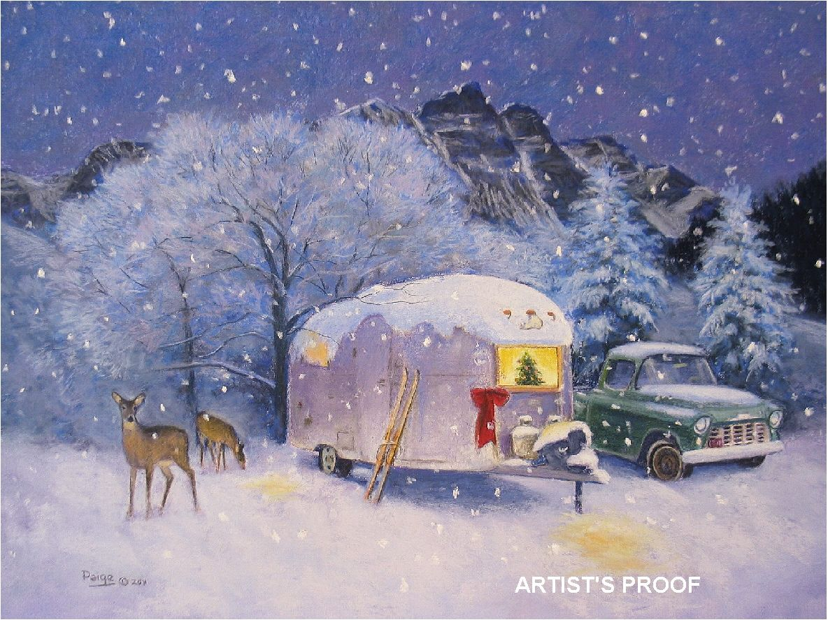 1968 airstream caravel christmas old rvs travel for Airstream christmas decoration
