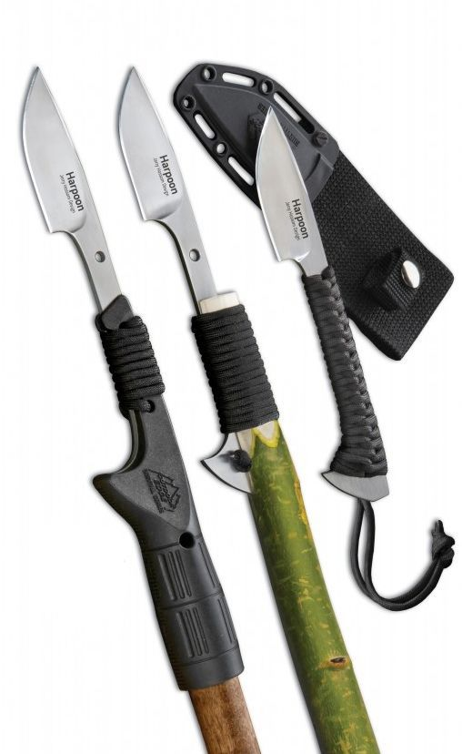 Outdoor Edge Cutlery Harpoon Fixed Blade Knife HAR-1C. A survival situation could lead you hungry and hunting for small game, so make sure that you're prepared for any turn your outdoor adventure might take with the handy Outdoor Edge Cutlery Harpoon Survival Fixed Blade Knife.