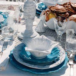 Incanto Mare by #Vietri   A #shell collectors treasure for the table!