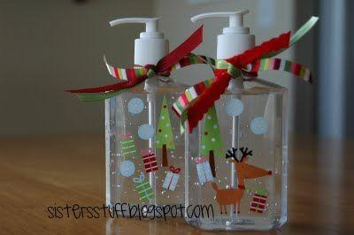 Decorative Hand Sanitizer Teacher Christmas Gifts Diy Christmas