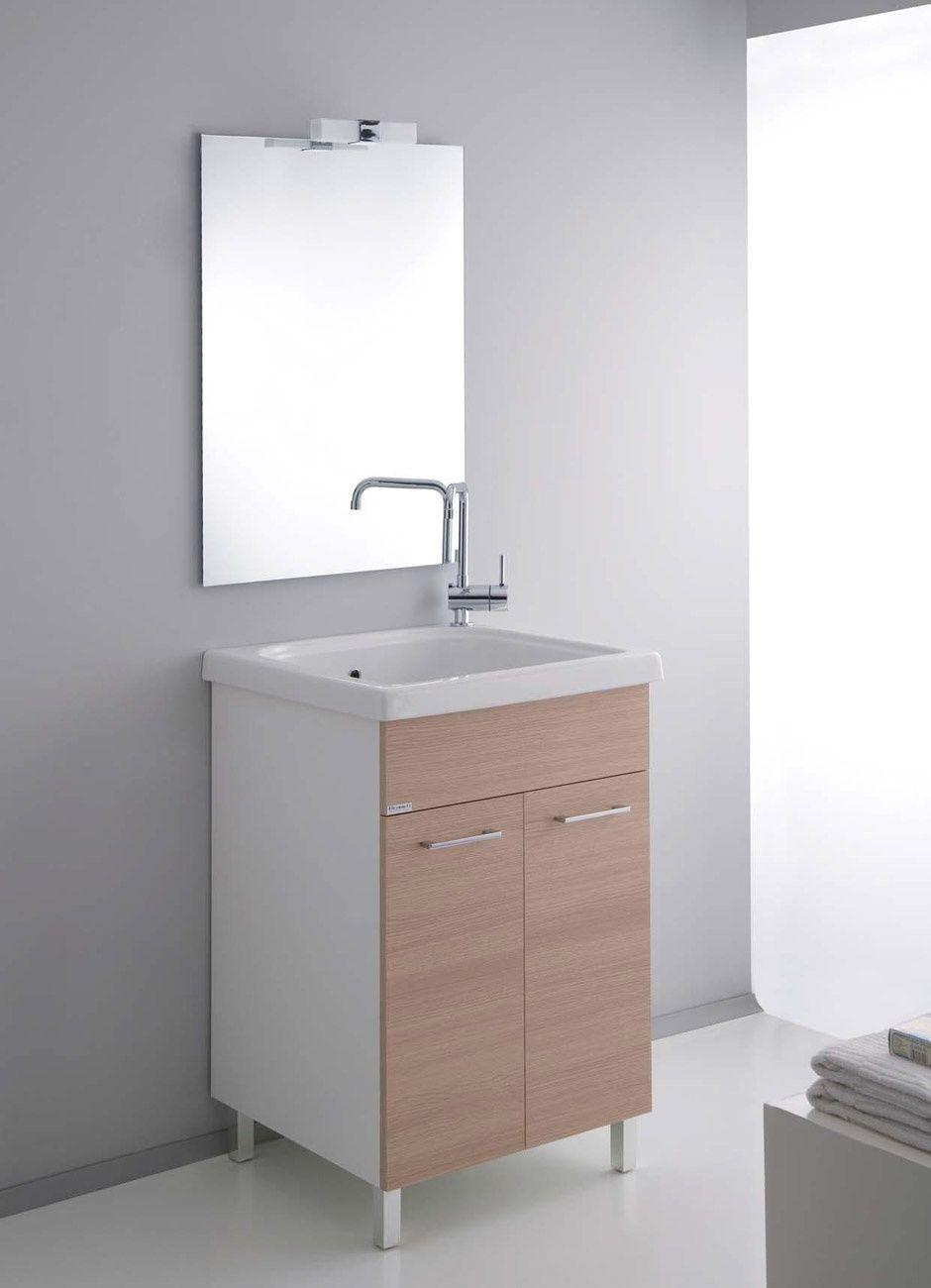 Mobile incluso di vasca lavatoio in cermica 60x60 cm | Arredo ...