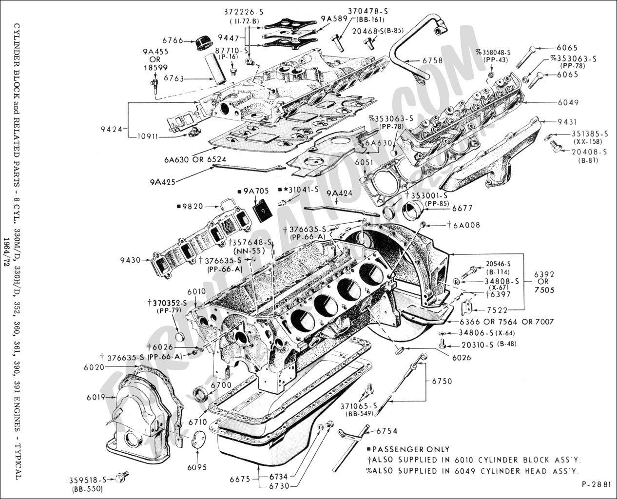352 ford engine diagram [ 1266 x 1024 Pixel ]