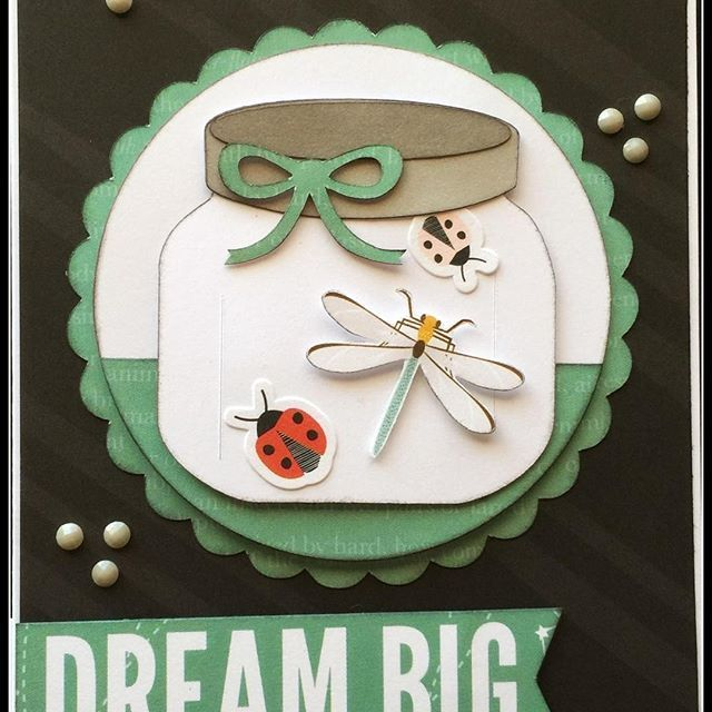 Dream Big Handmade Card: Close To  My Heart Dreamin' Big #bugsarebeautiful #dreambig #ctmh #ctmhdreaminbig #cardmaking #createbyjennifer
