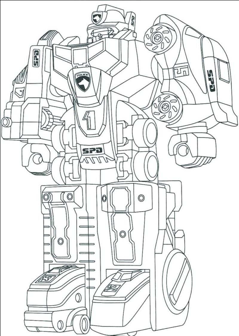 Cool Robot Coloring Pages To Print For Kids Power