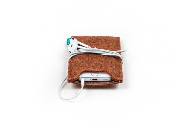 iPhone felt case, handmade felt sleeve. Felt sleeve can protect your iPhone from scratches, bumps, dirt and grime. Felt case provides protection in your bag or backpack. It will help you keep...