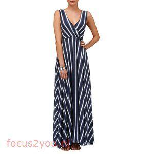 Phase Eight Fran Faded Stripe Maxi Dress, Blue 22455591 Viscose, Polyester,  Nylon, Elastane