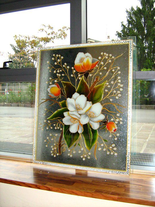 Pin By Maria Loria On Arts By Me Glass Crafts Glass Art Glass Painting