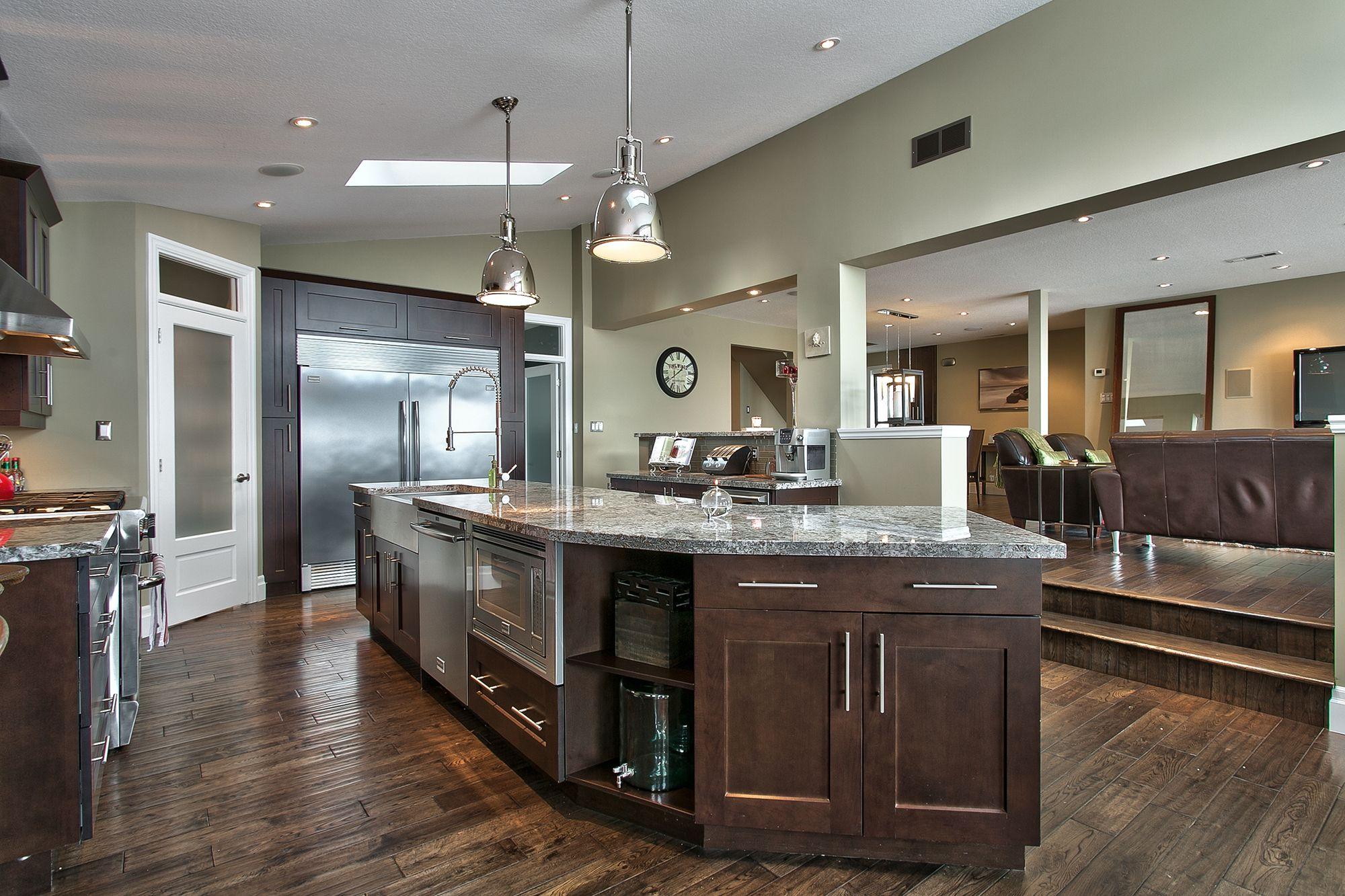 Gourmet Open Concept Kitchen Renovation. Fixtures By Restoration Hardware, Custom Shaker Style