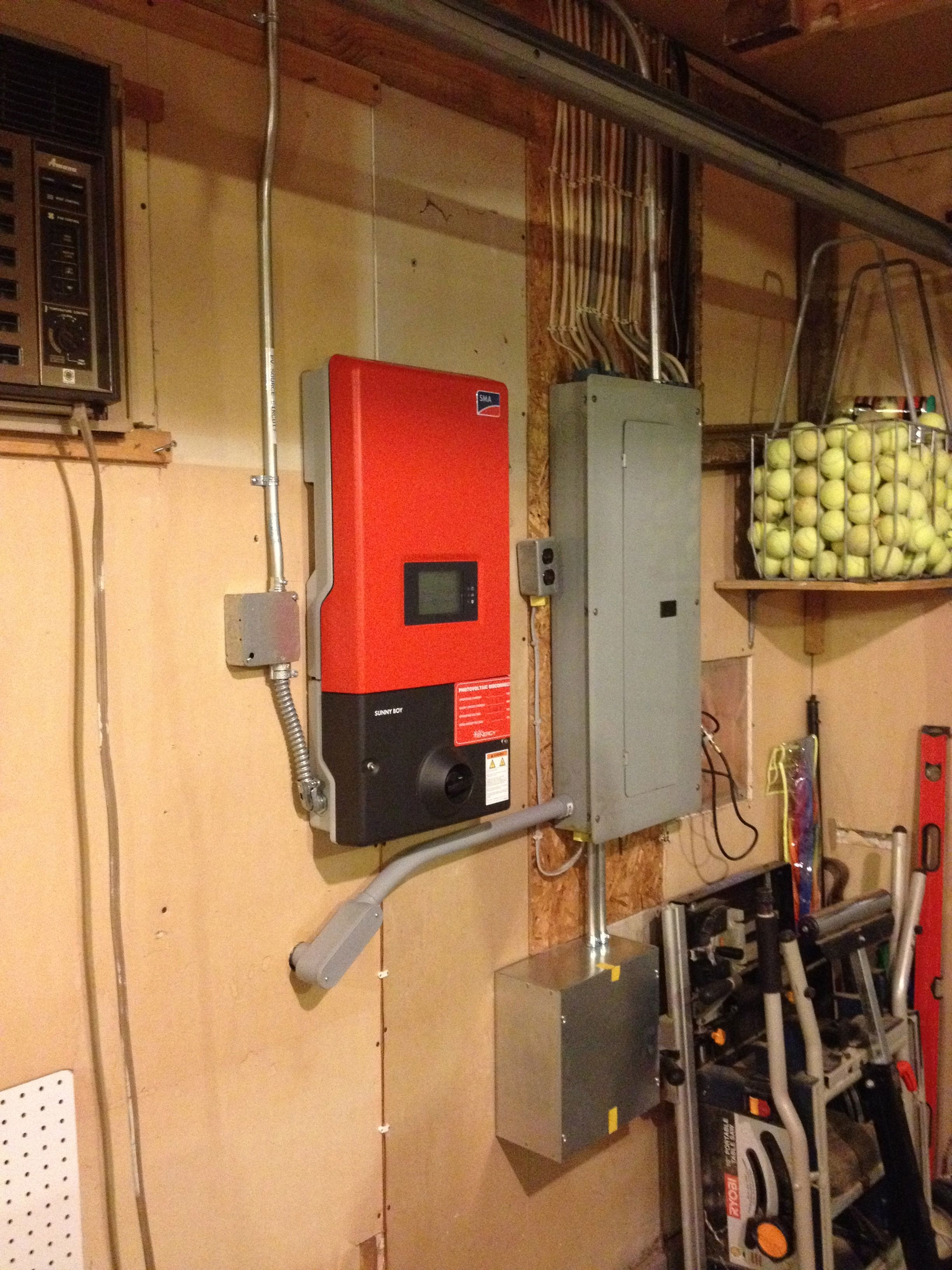 These new inverters are super sleek! Solar installation