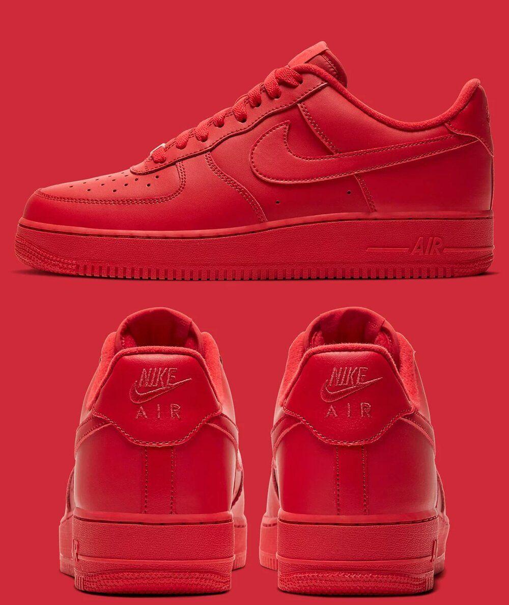 Nike Air Force 1 Low Triple Red in 2020