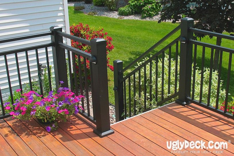 Pin By Uglydeck Com On Deck Railings Aluminum Railing Deck Deck Railings Maintenance Free Deck