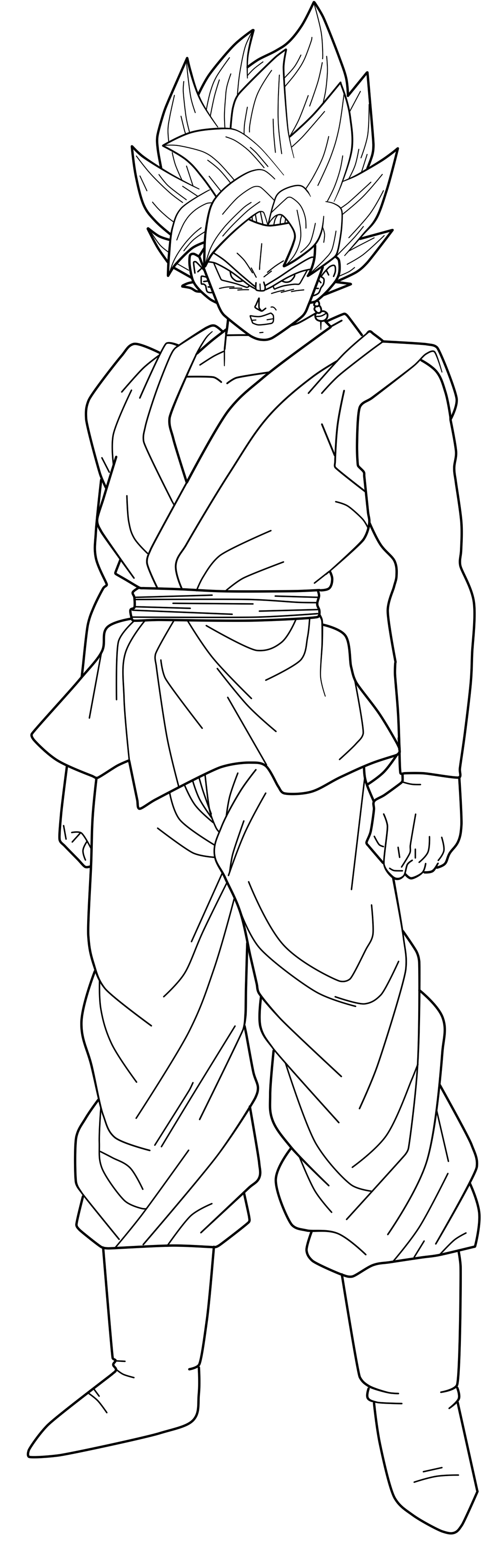 Coloriage Sangoku Ultra Instinct