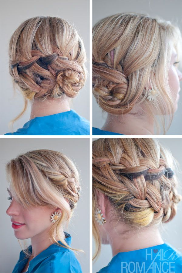 braided hairstyle inspirations: the double waterfall braid updo