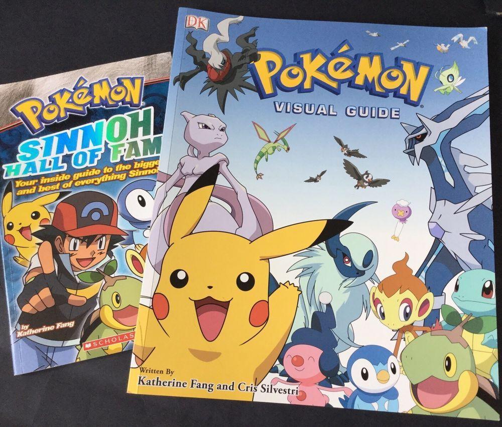 Pokemon Books X 2 Visual Guide DK + Sinnoh Hall Of Fame Magazine Nintendo