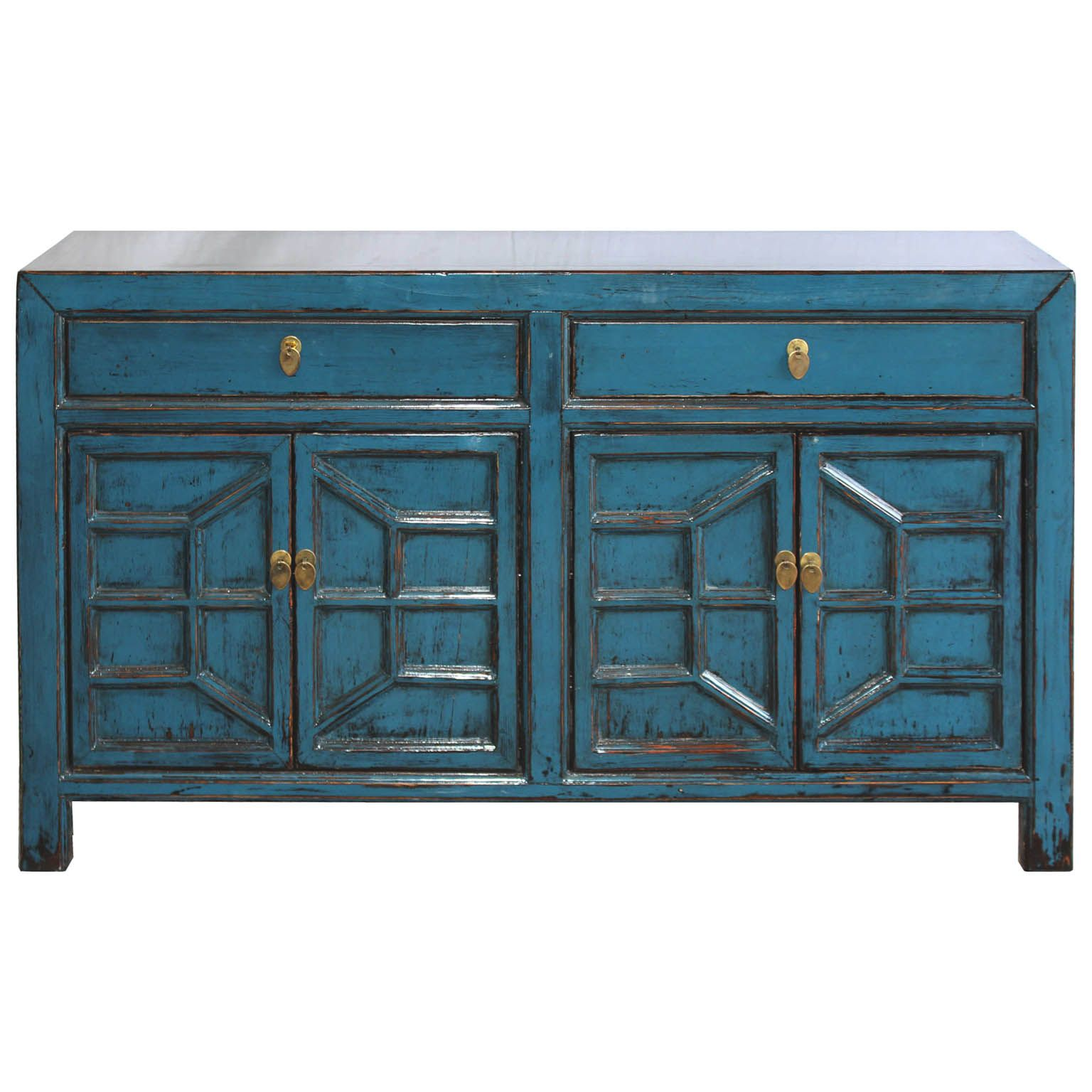 Blue Sideboard w/Decorative Doors | Buffets and Sideboards ...