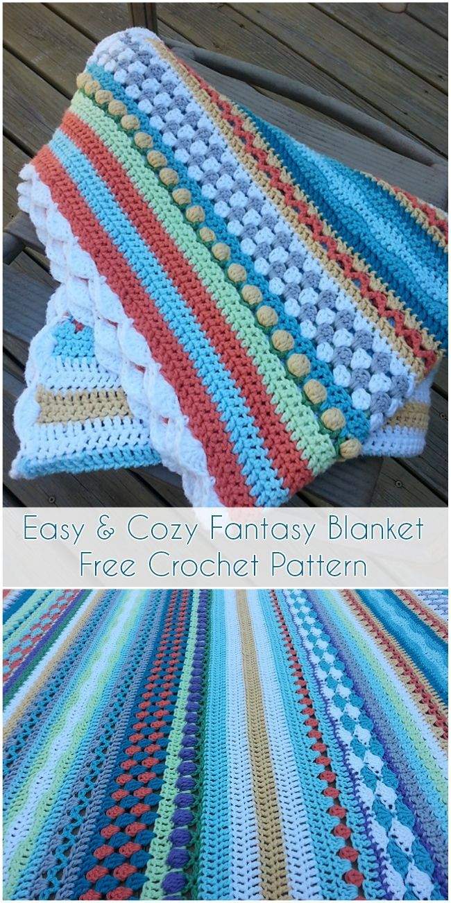 Easy & Cozy Fantasy Blanket – Free Crochet Pattern | Pinterest ...