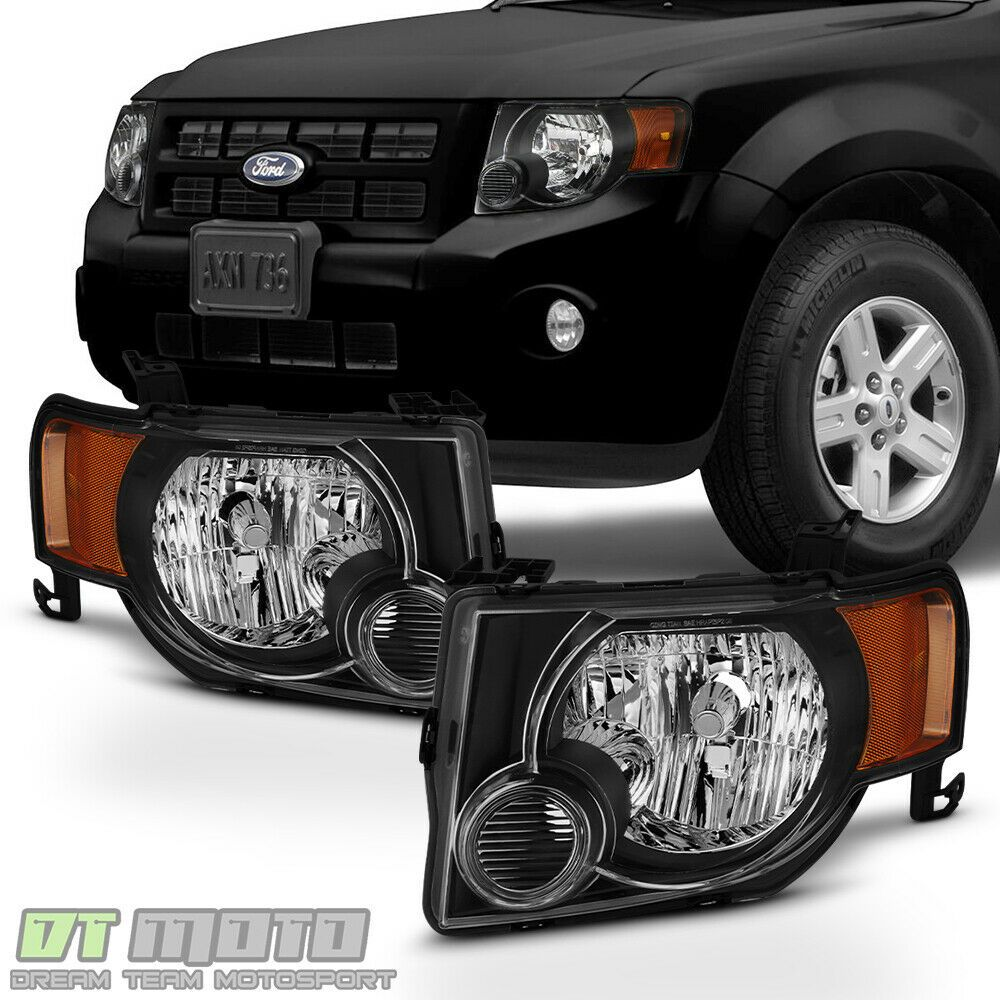 Ad Ebay Balck 2008 2012 Ford Escape Factory Style Headlights Headlamps Pair Left Right Ford Escape Ford Suv Ford Expedition