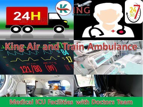 King Air and Train Ambulance Services from Patna Delhi Bangalore Mumbai Chennai Kolkata: 24x7 Hours Charter Air Ambulance Available, Reliab...