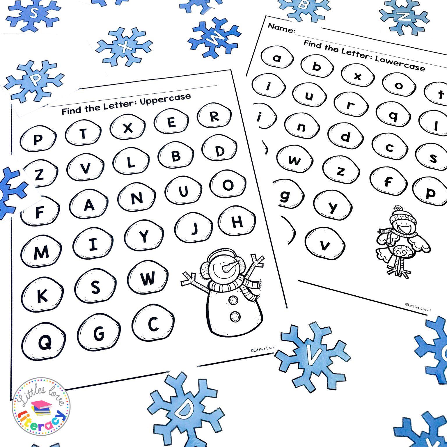 Winter Beginning Sound Worksheet