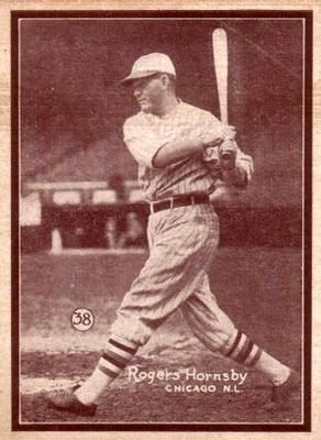1931 W517 38 Rogers Hornsby Front Rogers Hornsby Baseball Cards Sports Cards