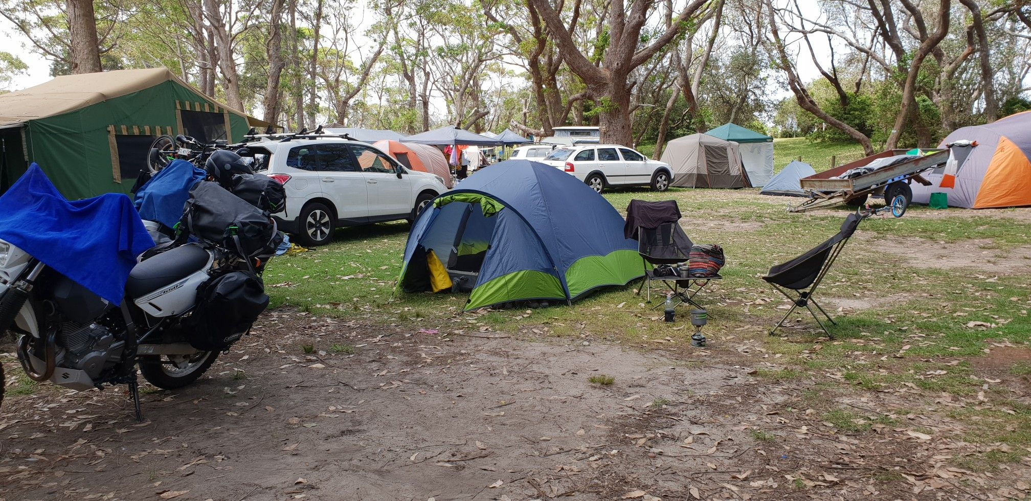 Camping at Kioloa, beautiful spot on south coast NSW. Walk ...