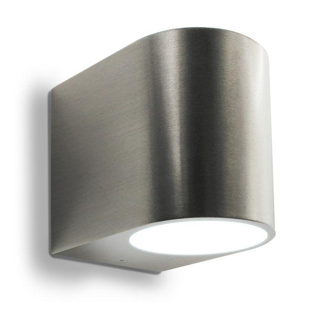 Amazing LED Wandleuchte, Wandlampe, Außenleuchte, Aluminium, 1 Flammig, Edelstahl  Geb. Nice Design