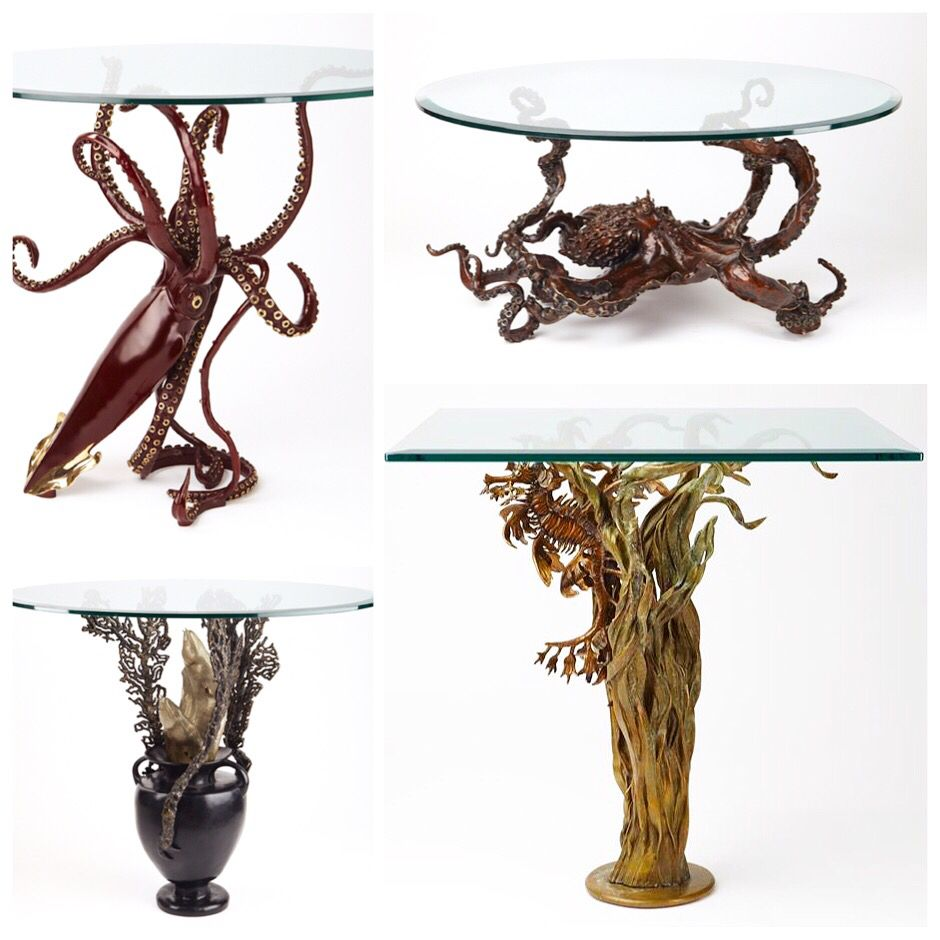 Bronze Tables by Nicos Zographos, Pair at 1stdibs