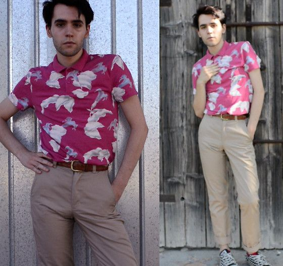 Floral polo (by Gabriele G.) http://lookbook.nu/look/3857270-Floral-polo