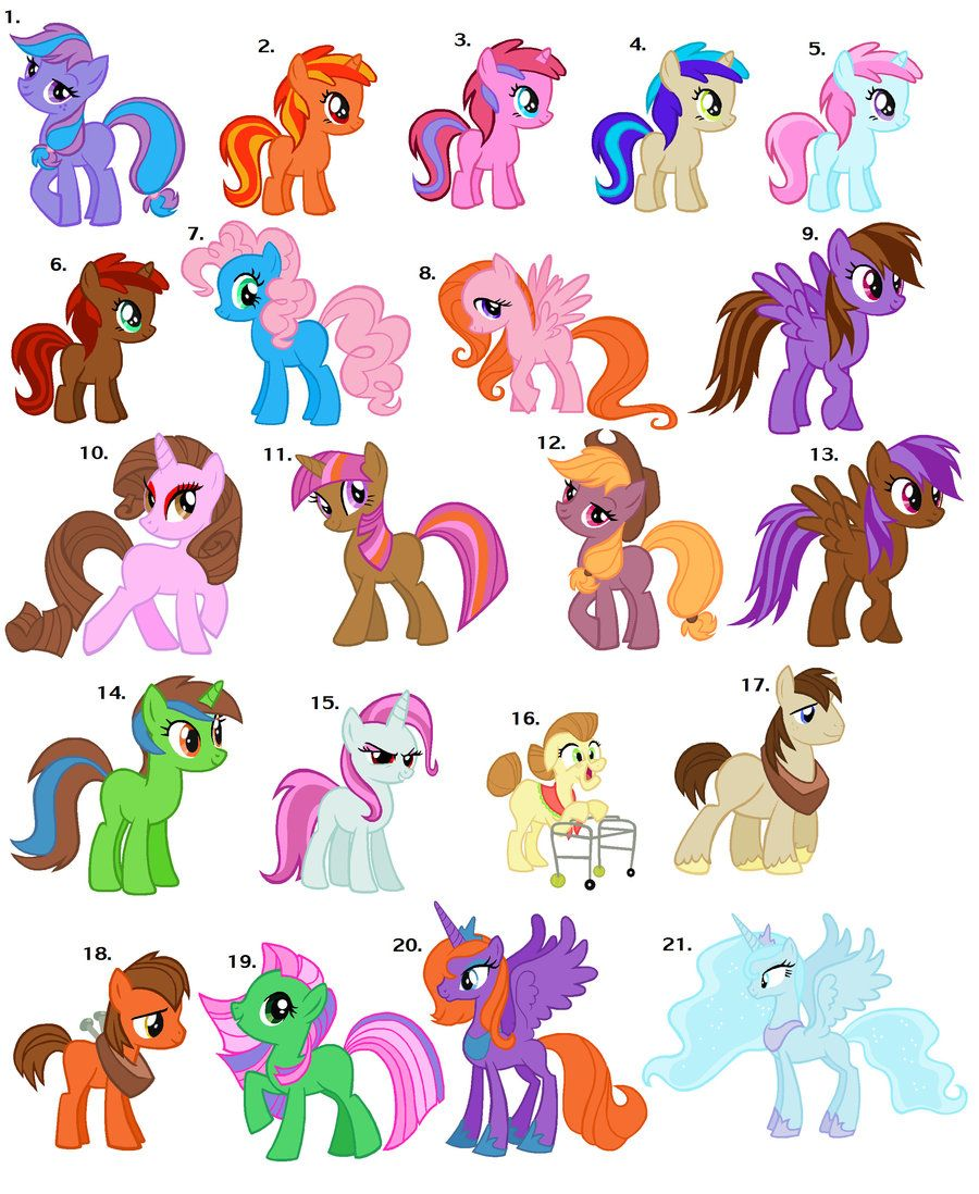 free my little pony adoptables closed by earrthmoonwarrior239