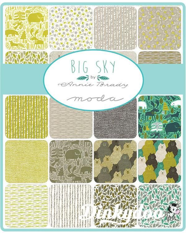 Big Sky Charm Pack by Annie Brady for Moda Buy more, save big!Add 2 or more layer cakes from any collectionto your cart and you'll get an automatic discount! #bigsky #anniebrady #moda #showmethemoda #bigskyfabric #animalfabric #animalpattern #kidsfabric #kidssewing #sewing