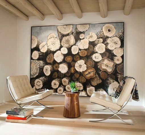 Large Wall Art in Mediterranean Living Room - Home Design Ideas ...