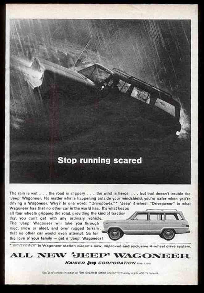 """Stop running scared"" #advertisement #ad #jeep #wagoneer"