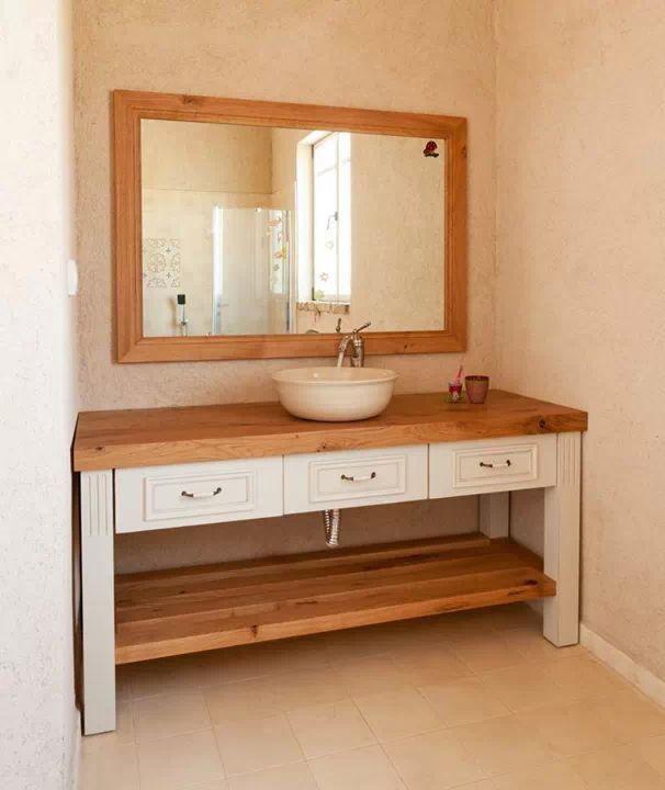 שילוב צבעים יפה לשולחן Bathroom Vanity