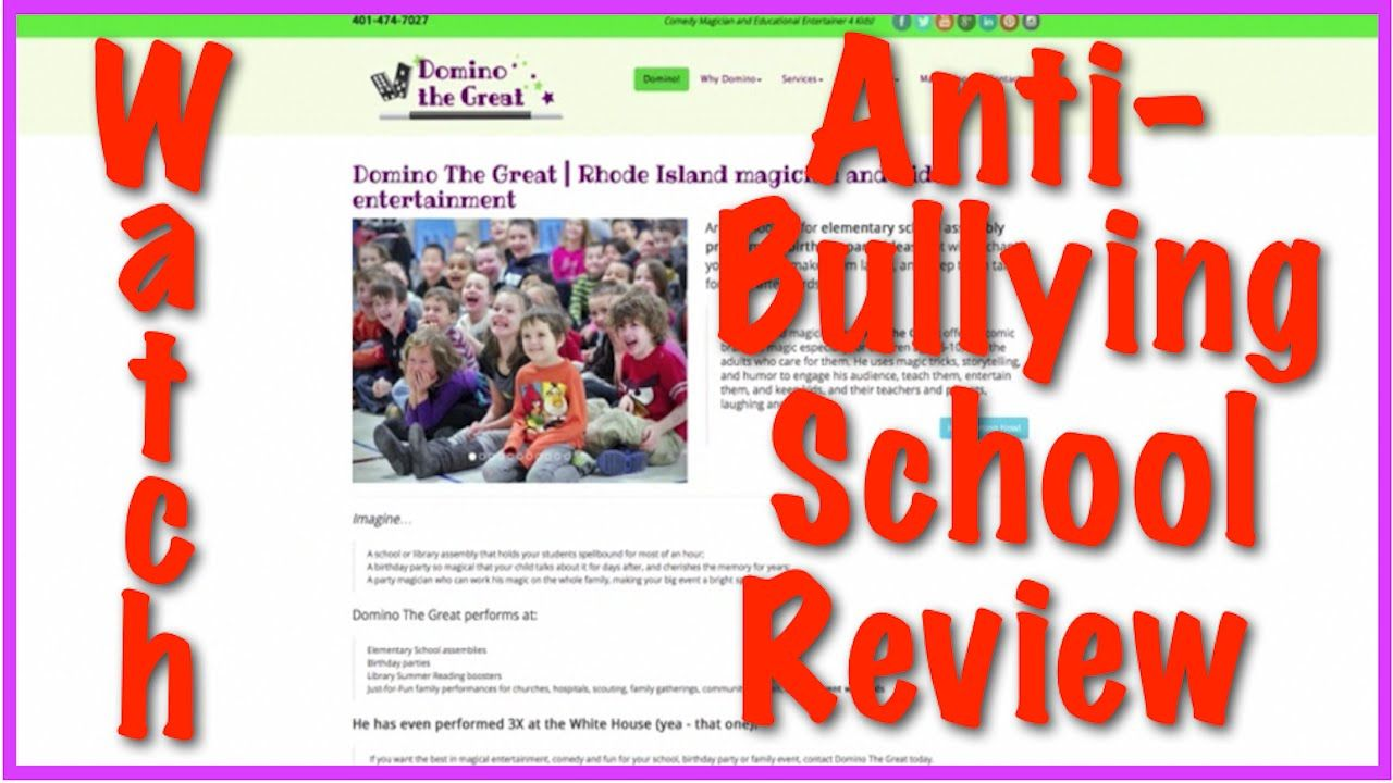 AntiBullying Elementary School Assembly Programs is a